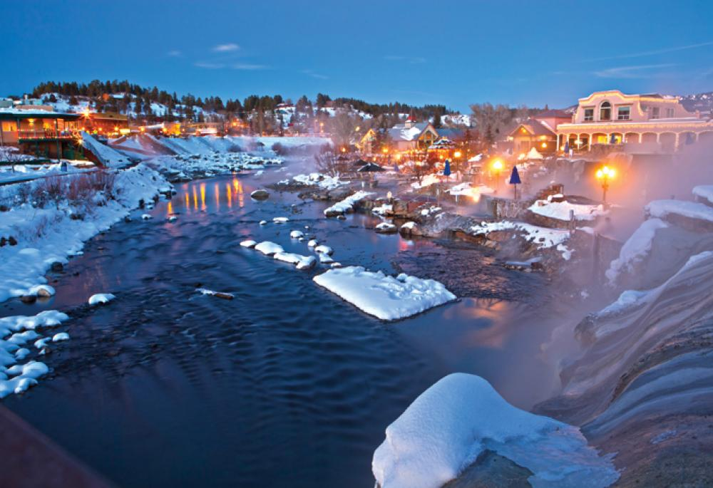 Pagosa Hot Springs Winter